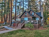 Quintessential Tahoe lakefront cabin. The charm of a