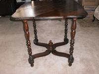 "CHARMING SMALL Antique Gate-leg Drop-leaf Table 28"" x"