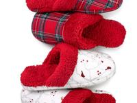 Keep warm with these cute flannel slippers by Charter