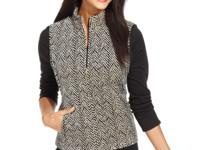 Charter Club's quilted chevron-print vest is a perfect