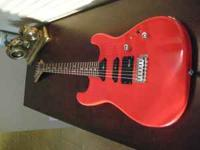 90's Charvette Electric Guitar with case Some nicks,