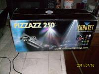 The Pizzazz™ 250 is an effect light that mimics