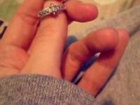10k white gold ring. Really gorgeous. I simply do not