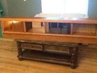 King size oak waterbed w/drawers $75 (no mattress) just