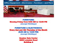 We sell U.S. Government used Office Furniture,