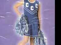 New Cheerleader Costumes with Pom Poms Blue or Red with