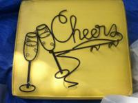 Cheers black metal wall hanging