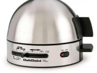 The Chef's Choice Electric Egg Cooker is designed to