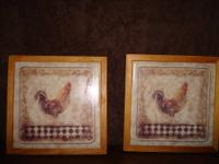 Selling two of my chenille embroidery wall hangings.
