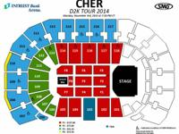 I have 2 front row floor tickets for the upcoming Cher