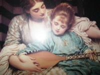 This is a victorian print of a famious paintting . Was