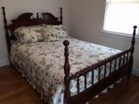 Type: Bedroom furniture Cherry wood four post bed. Side