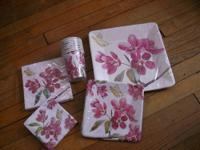 ~ Cherry Blossom-Paper Plates, napkins, cups,