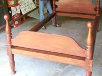 Beautiful Cherry Cannon Ball Bed.  45x75  Length of