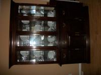 Dark Cherry China Cabinet, has lots of room, is in very