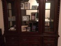 Cherry China Cabinet for sale. Mint condition. Wood