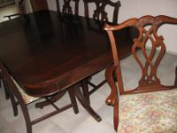 DUNCAN PHYFE DOUBLE PEDESTAL DINING TABLE solid wood 64