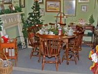 Cherry Dining Table/6 Chairs - Hutch - Server - Sold