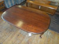 Cherry decline side coffee table. Approximate