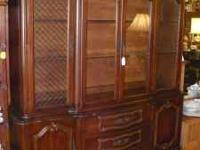 Gorgeous Cherry French Provincial-Style China Cabinet