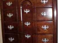 5 drawer Cherry High Boy. Great condition. Selling