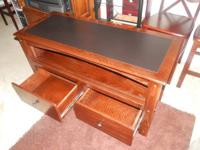"""Cherry Wood Entertainment/TV Stand $130  51"""" Wide x 21"""""""