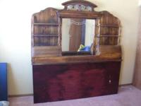 "Cherrywood Headboard 74"" Wide, 13 1/2"" deep. Has Mirror"