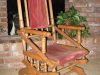 SOLID CHERRYWOOD PLATFORM ROCKING CHAIR. * This is an