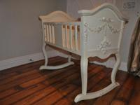 Beautiful Shabby Chick Cradle in immaculate condition.