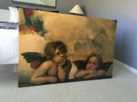 High-gloss lacquered wall art of famous Raphael oil