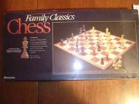 Brand new chess set never opened. e-mail or call