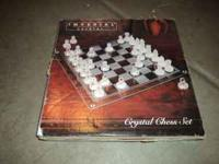 Crystal Chess set, in great condition -- $20 8 piece