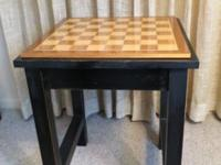 This is a custom made vintage (mid-century) chess table