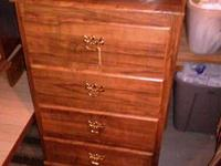 Nice small chest of drawers. Laminate, but like new!