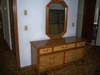VERY NICE, SOLID WOOD BAMBOO DESIGN, CHEST HAS SEVEN