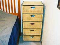 I have a 5-drawer wicker chest. It is good for the