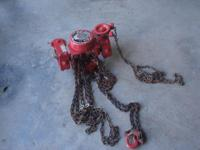 CHESTER HOIST ZEPHYR SWIVEL TRUCK TROLLEY HOIST, 1/2