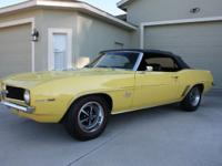 1969 Camaro SS convertible. frame off restored numbers