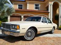 THIS 1985 CAPRICE CLASSIC IS A TRUE SURVIVOR. THE BODY