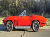 1966 RED CORVETTE A/C CONVERTIBLENCRS JUDGING