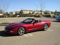 ENJOY THIS BEAUTIFUL METALLIC RED CORVETTE CONVERTIBLE