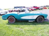 Here's your chance to own a 1960 Corvette. These cars
