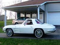 This 1963 Corvette Convertible has had a recent total