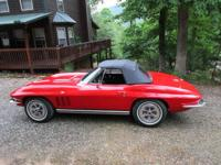 This 1965 Corvette convertible is equipped with a 350
