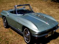 1966 Corvette Stingray Roadster, Rare Mosport Green