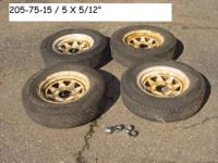 CHEVROLET DODGE FORD 205 75 15 TRAILER WHEELS AND