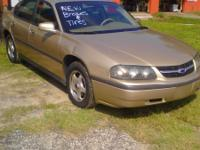 We got a 2003 Chevy impala with brand new brakes and