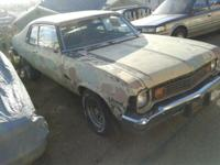 Running project 1973 Chevrolet Nova currently on non op