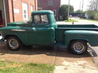 1957 Chevy 3100 Pickup. Truck is very solid and ready