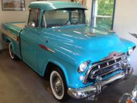 Restored 1957 Chevrolet Cameo Carrier 3124 pick-up,